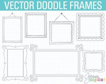 80% OFF SALE Doodle Frame Clipart, Digital Frames, Doodle Clipart, Hand Drawn Clipart, Frames Clipart, Doodle Frame, Frames Clipart