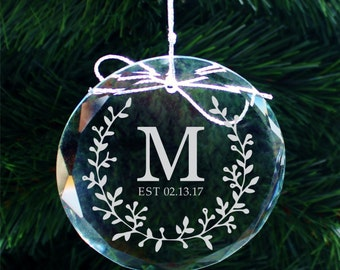 SHIPS FAST, Engraved Family Established Ornament, Personalized Name Christmas Ornaments, Stocking Stuffers, Christmas Gifts for Mom -  COR34