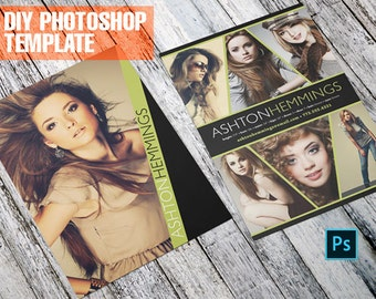 DIY Comp Card for Models - Contemporary - Zed Card - For Models and Actors - Photoshop Template