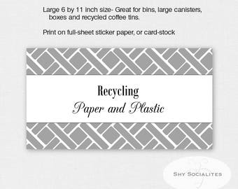 Gray Pantry Labels | Organizing Labels | Editable Labels | Tags | Editable PDF | Instant Download