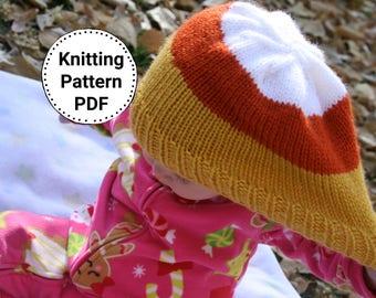 KNIT HAT PATTERN | Knitting Pattern | Knit Beanie Pattern | Womens Knit Hat Pattern | Childs Knit Hat | Emma hat Pattern