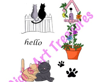 Clear Acrylic Stamps - Gigi's Art Treasures© - Time With Cats