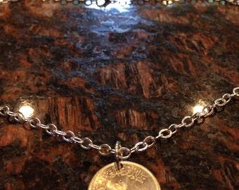Saudi Arabia 25 halalat coin necklace