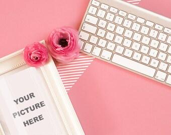 Ranunculus office  - INSTANT DOWNLOAD - Styled Stock - Styled photography - Photography - Ranunculus Photography - Desktop - Stock