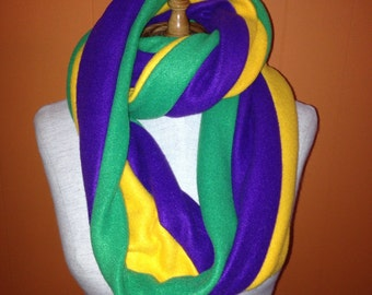 Mardi Gras Fleece Infinity Scarf Neck Warmer