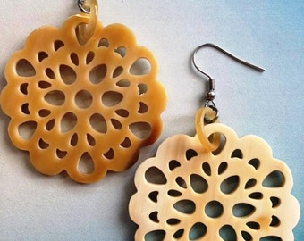 Horn Mandala earrings