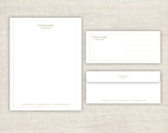 Letterhead & Envelope Design - Photo Marketing Template for Photographers - Photography Photoshop Design Templates, INSTANT DOWNLOAD