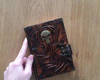 Steampunk Journal, Leather Journal, Travel Journal, Leather Notebook, Diary