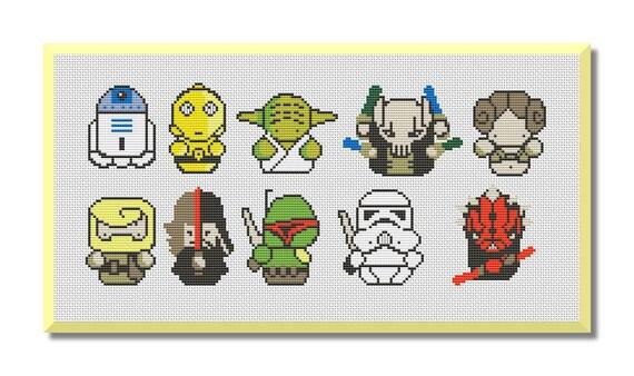 Star Wars Pix Patrón De Punto De Cruz Mini Pixel Personas Que