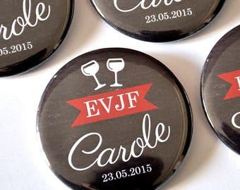 1 pin Badge wine tasting bachelorette party / Bachelorette bachelor party gift