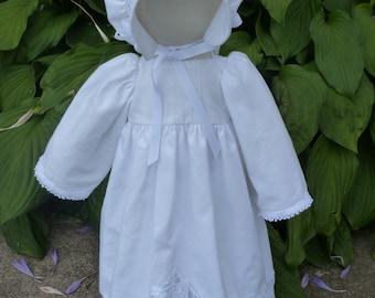 White Battenburg Lace  Pillowcase pioneer church  doll
