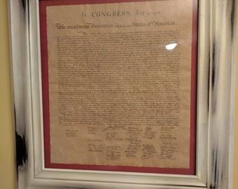 Declaration of Independence with distressed frame