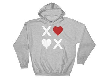 XOXO Hugs & Kisses Love Hooded Sweatshirt