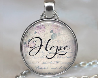 Hope necklace, Hope pendant Hope jewelry favorite word jewelry, inspirational word jewelry  inspiration necklace key chain key ring key fob
