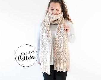 Schema uncinetto grande sciarpa con frange  || schema uncinetto sciarpa di lana || schema sciarpa invernale | schema uncinetto sciarpa donna