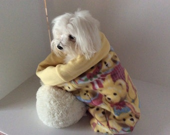 Teddy Bear Fleece Puppy Cuddle Sac