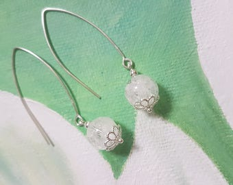 925 Silver earrings and rock crystal