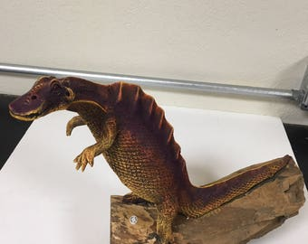 Yellow and Purple Lizard Replica - Very Realistic-Hand Carved Item