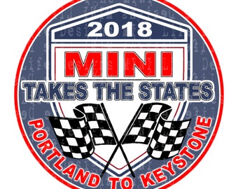 """Grill Badge- MTTS 2018 Portland to Keystone BLUE  3"""" magnetic grill badge"""