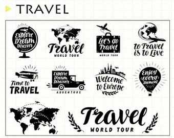 Travel Acrylic stamp