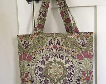 William Morris fabric bag, Liberty, tote, tote bag, Christmas gift, gift for her, birthday gift, arts and crafts, stylish bag, classic bag