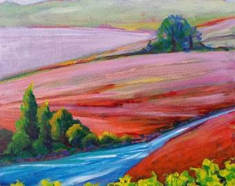 Valley Morning 20 original acrylic nature painting