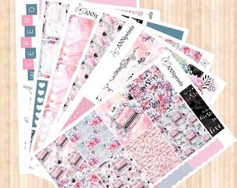 AP010Love story weekly planner stickers erin condren happy planner