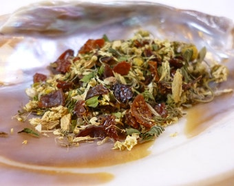 1 oz of Titania's Tincture loose leaf tea - Organic - Caffeine Free - Cold Prevention Tea