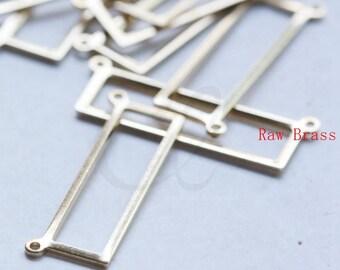 20pcs Raw Brass Rectangle Link - 25x8mm (3097C-M-314)