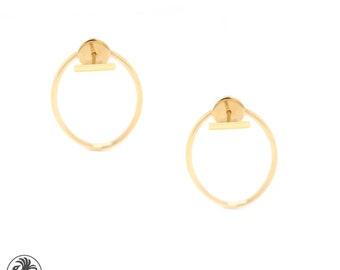 Oval Earrings, Push back Earrings in Oval shape, Open Oval Earrings, Stick and Oval earrings, Trendy Earrings In oval Sahpe | EAR01824