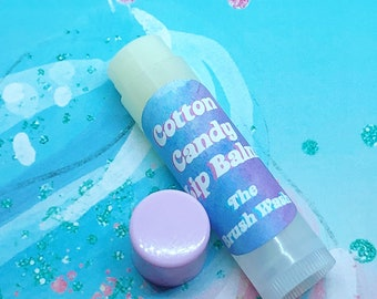 Cotton Candy Flavored Vegan Lip Balm by The Brush Wash
