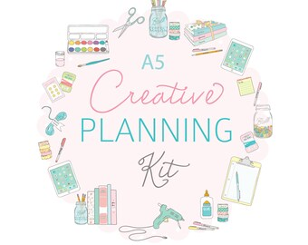 A5 CREATIVE Planning Kit - Digital File Instant Download- ideas, business planning, inspiration journal, craft log, shopping list