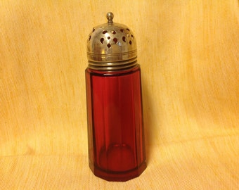 1800's Victorian Cranberry Sugar Shaker