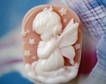 Little Angel Soap with fragrance of Magnolia, the aroma of a magnolia tree in bloom.
