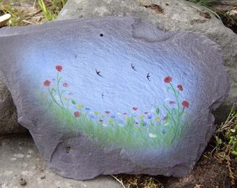 Swifts Over the Wild Flower Meadow (Original Artwork)