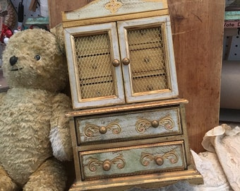 If Only That Little Knob Wasn't Missing Vintage Large Italian Florentine Jewelry Box