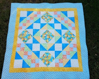 Quilt baby boy or girl with ducks