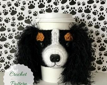 Crocheting Patterns, Cavalier King Charles, Crochet Dog Pattern, Dog Crochet Pattern, Crochet Pattern Dog, PDF Pattern, Mug Cozy Pattern