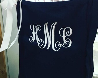 Personalized Aprons, Monogram Apron, Custom Embroidered Aprons, Chef Apron Personalized, Gift for Dad, Apron with Pockets