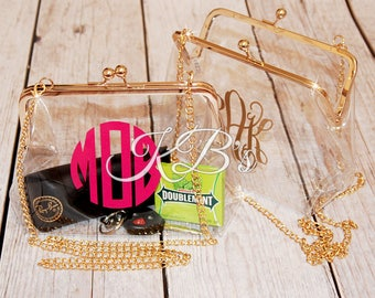 Clear Cross Body Purse - Game day Purse - Game Day Bag - Clear Clutch - Clear Bag - Stadium Bag - Cross Body Purse