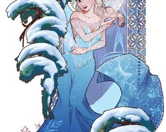 Designer Art Nouveau Elsa Print
