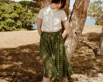 SALE - Birdsong Gathered Skirt in Dappled Light ** LIMITED EDITION **