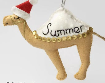 Personalised Christmas Camel / Christmas Ornament / Personalised Christmas Bauble