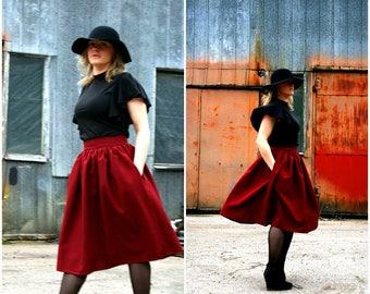 Marsala color skirt