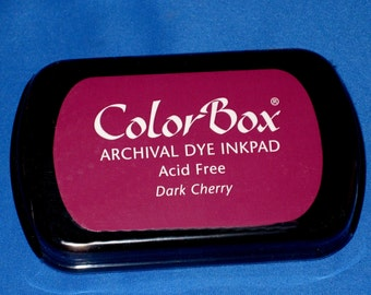 Cherry Ink Pad Color Box Archival Dye Inkpad Wine Color Permanent Ink Pad for Your Wine Stain Stamps Made in the USA Stamp Pad Dark Cherry
