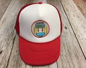 "Youth/Kids Trucker Hat- with ""Camping Club"" P..."