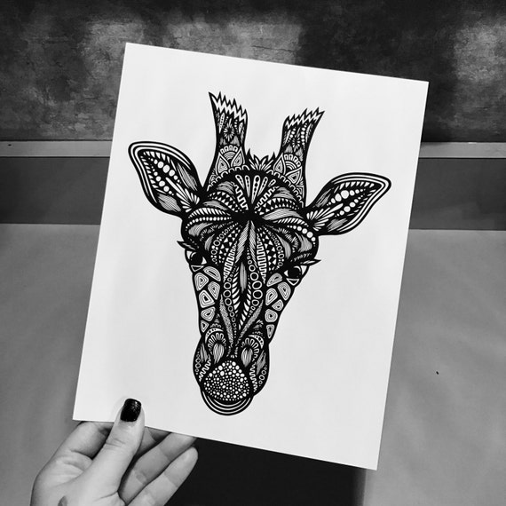 Zentangle - Giraffe