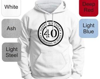 Happy Birthday - Celebrating 40 Years Emblem Premium Hoodie Sweatshirt F170 - WBD-673 eRyi5zA1t