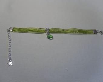 """Bracelet """"chic"""" green heart """""""
