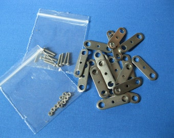 Pack of 20 Steel Stop Motion Armature Compression Plates (with nuts & bolts)